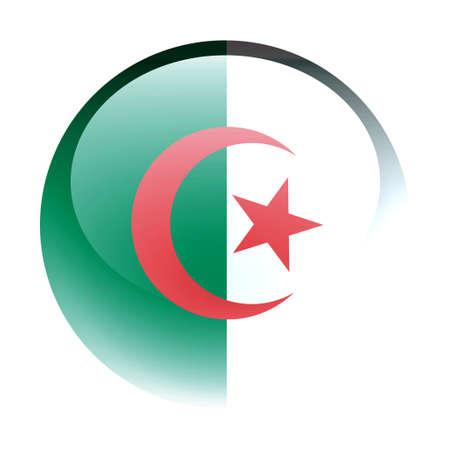 aquabutton: Aqua Country Button Algeria Stock Photo