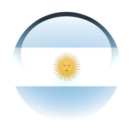 argentina flag: Aqua Country Button Argentina