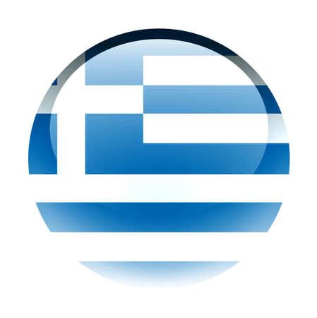 aquabutton: Aqua Country Button Greece Stock Photo
