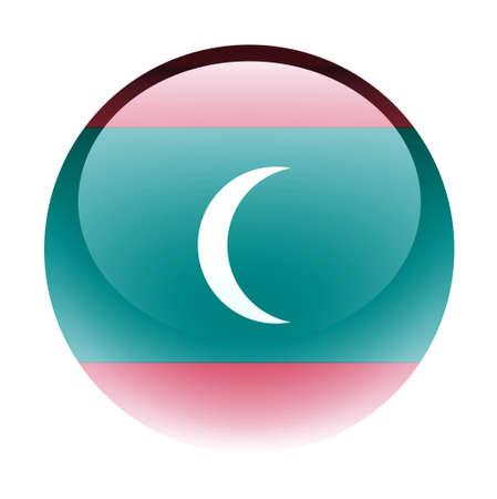 aquabutton: Aqua Country Button Maldives Stock Photo