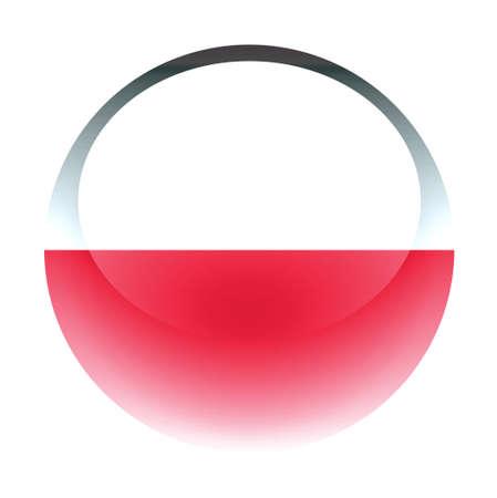 aquabutton: Aqua Country Button Poland Stock Photo