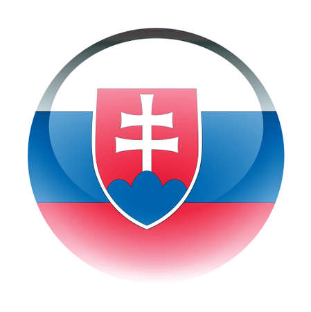 aquabutton: Aqua Country Button Slovakia Stock Photo