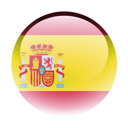aquabutton: Aqua Country Button Spain Stock Photo