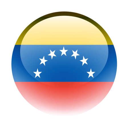 aquabutton: Aqua Country Button Venezuela Stock Photo