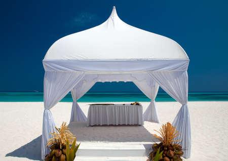 unspoilt: beach wedding Stock Photo