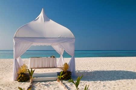 wedding hut at the beach photo