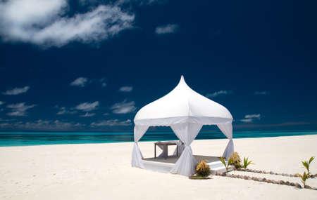 wedding pavilion at the beach photo