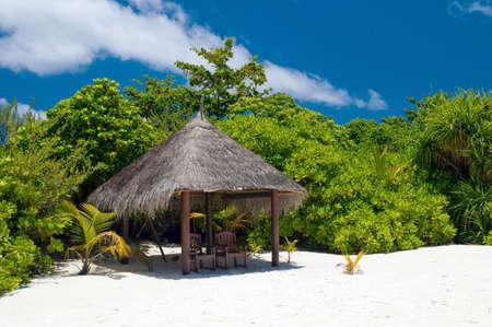 shadowy: Shadowy Place at a tropical beach Editorial