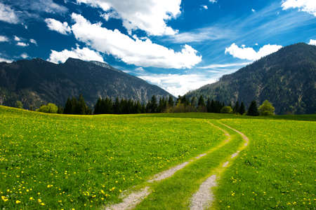 allgau: hiking path in the Bavarian Alps Stock Photo