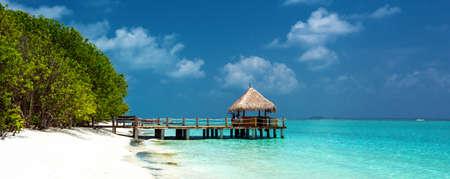 beach panorama: tropical beach panorama Stock Photo