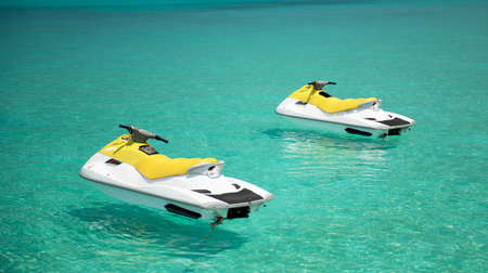 jet ski: Jet Ski on the indian ocean Stock Photo