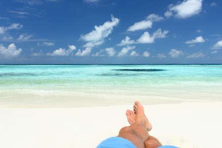 pies: tomar el sol