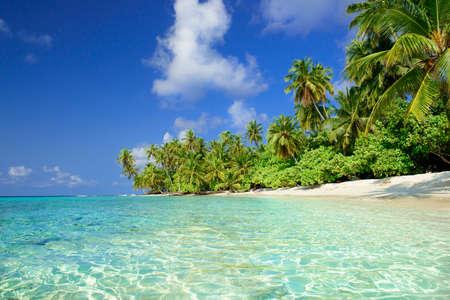 beautiful beach on the maldives