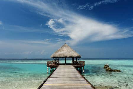 Beautiful beach on the maldives Stock Photo