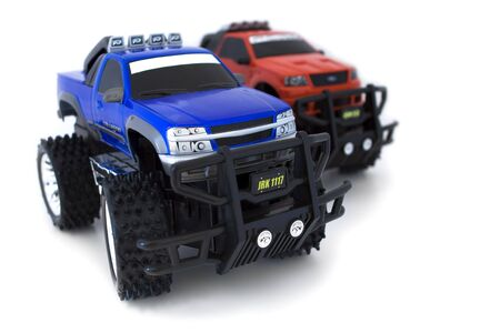 toy truck: Monster Trucks Stock Photo