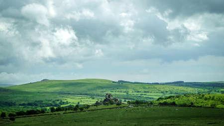 lynmouth: english countryside dartmoor during summer, devon Stock Photo
