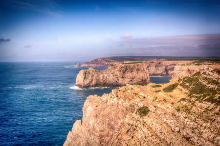 Cabo da Roca, Europes westernmost point, where the country ends and the sea begins, Portugal Stock Photo