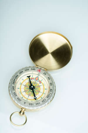 Isolated compass with chrome effect on perfect white background