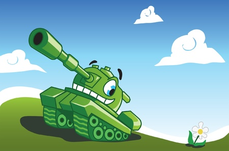 cannon: Funny tank  Illustration