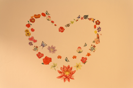 heart background wall paper photo