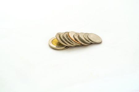 group of thai bath coin photo