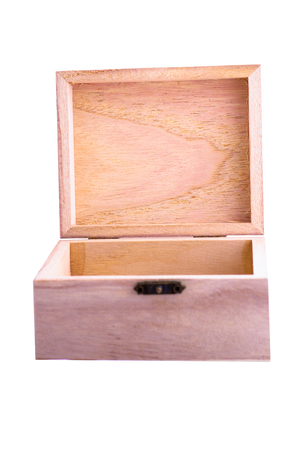 partition: small wooden box focus on partition