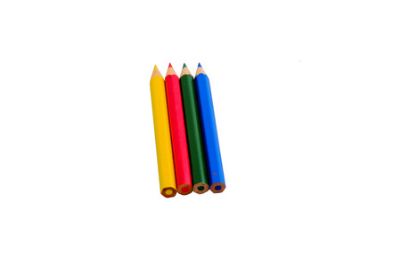 smal: smal colour pencils on white background Stock Photo