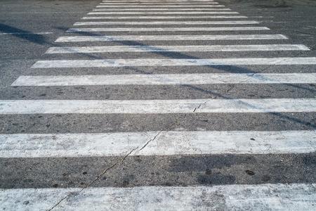 pedestrian crossing: Crosswalk or pedestrian crossing or zebra crossing Stock Photo