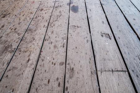 on wood floor: Dirty old wood floor