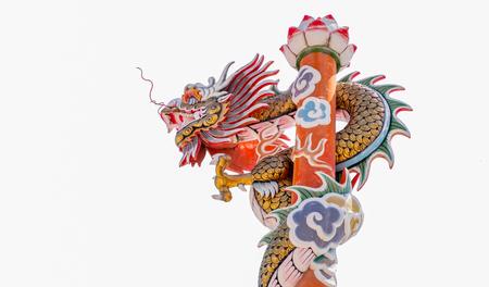 involve: dragon involve a pillar Stock Photo
