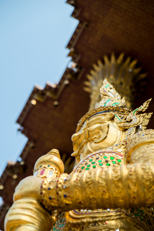 gold color: Statue in gold color from Asia Stock Photo