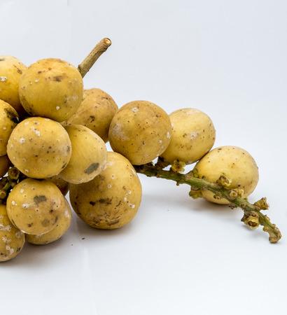 lanzones: Langsat fruit tropicalsweet tasty, Lanzones or longkong Stock Photo