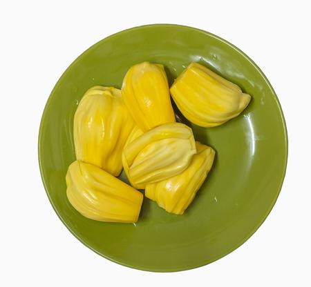 jack fruit: jack fruit in disk on white background