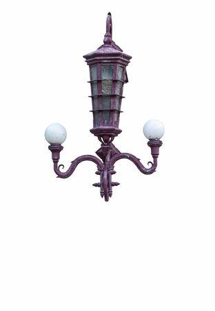 lamp light: Old lamp light on wall Stock Photo