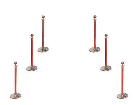 rope barrier: Stand fence rope barrier