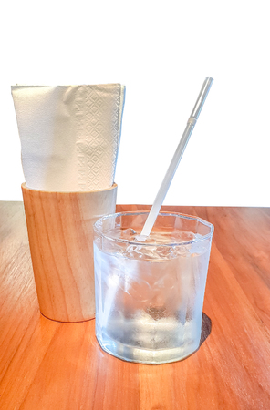 Water ing glass isolated Banco de Imagens