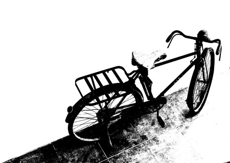 retro bicycle silhouettes style. Bicycle illustration. 免版税图像