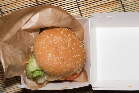 Hamburger fast food Banco de Imagens