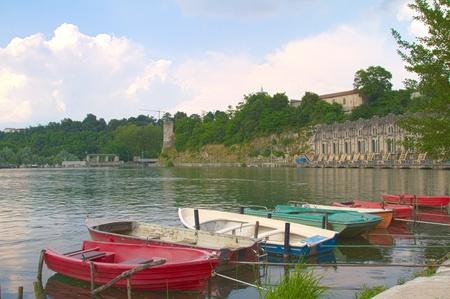 rowboats: rowboats on the shore