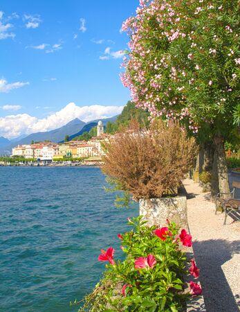 dinghies: bellagio, como lake Stock Photo
