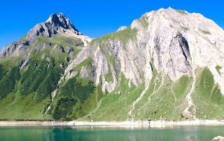 mounts: Formazza mounts and Morasco lake Stock Photo