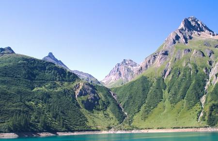 mounts: Formazza mounts around Morasco lake Stock Photo