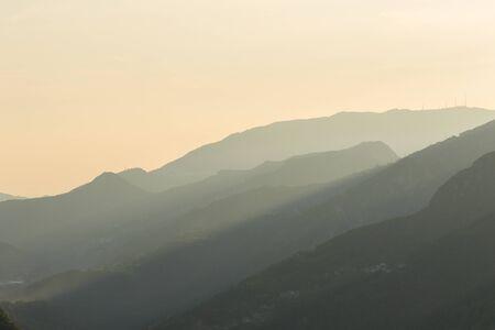 Alpine panorama in summer time, Italian Alps