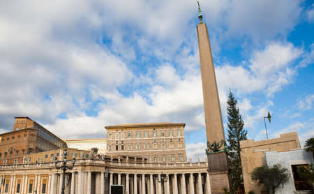 Rome, Italy - 2 January 2008: View of Saint Peter Basilic and square