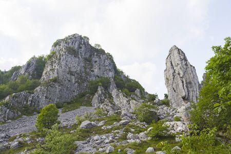 Mountain peaks in summer time, Italian Alps