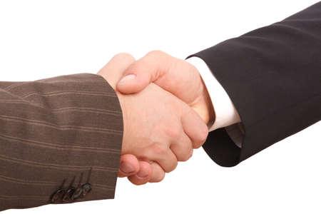 Business handshake - close up