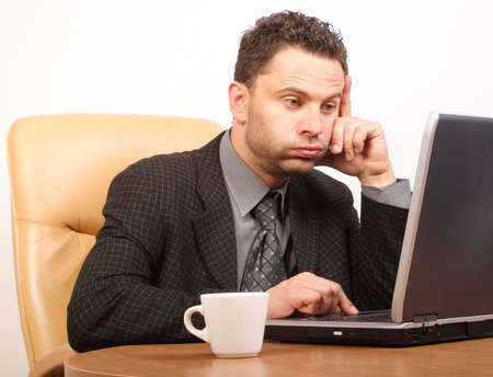 respectable: Busy time in stressful job Stock Photo