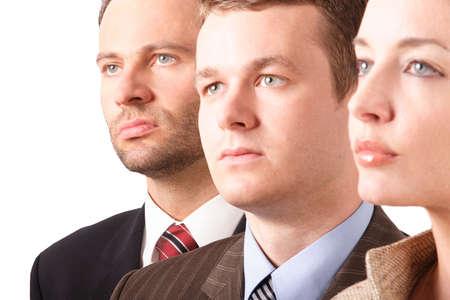 3 business people - portrait - close up