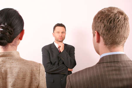 Man or woman ? Business man is making selection Stock Photo - 433682