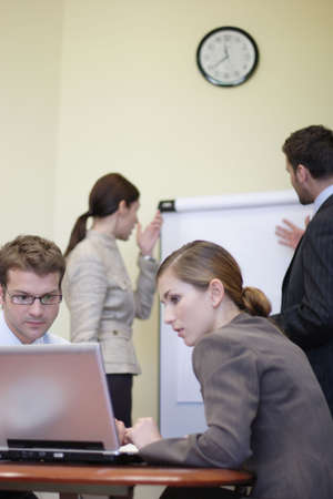 Business people working in the office - 2 man, 2 woman Stock Photo - 812879